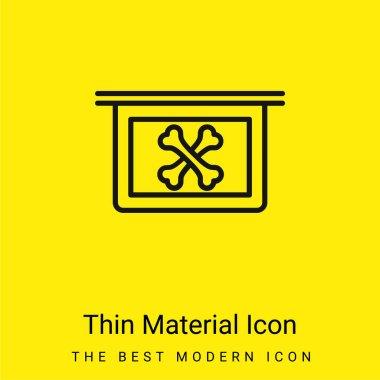 Bones X Ray Vision minimal bright yellow material icon stock vector