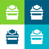 Booth Flat four color minimal icon set