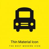 Big Bus Frontal minimális élénk sárga anyag ikon
