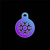 Bauble blue gradient vector icon