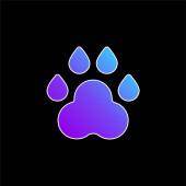 Animální stopa modrý gradient ikona
