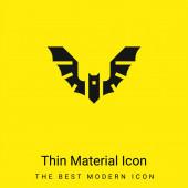 Bat minimální jasně žlutý materiál ikona