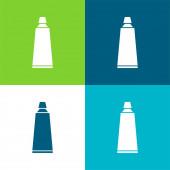 Koupelna Zubní pasta trubka Byt čtyři barvy minimální ikona sada