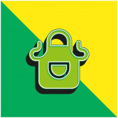 Apron Green and yellow modern 3d vector icon logo