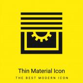 Oslepí minimální jasně žlutou ikonu materiálu