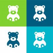 Bear Flat vier Farben minimalen Symbolsatz