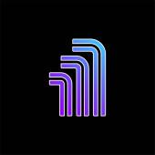 Allen kék gradiens vektor ikon