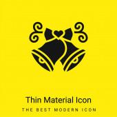 Zvony minimální jasně žlutý materiál ikona