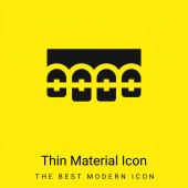 Závorky minimální jasně žlutá ikona materiálu