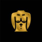 Brust vergoldet metallisches Symbol oder Logo-Vektor