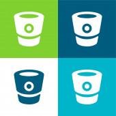 Bitbucket Logo Flat čtyři barvy minimální ikona nastavena