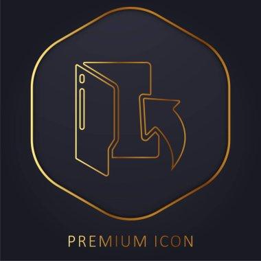 Arrow golden line premium logo or icon stock vector