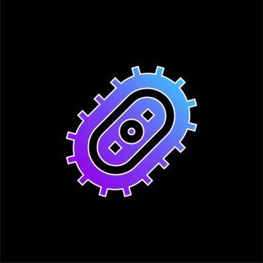 Bacteria blue gradient vector icon stock vector