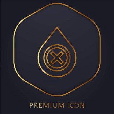 Blood golden line premium logo or icon