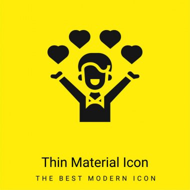 Affection minimal bright yellow material icon stock vector