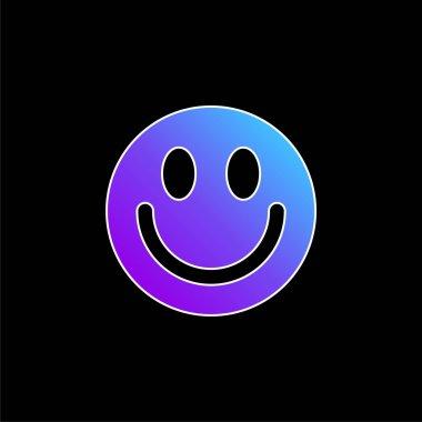 Big Smiley Face blue gradient vector icon stock vector