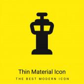 Flughafen-Kontrollturm minimales leuchtend gelbes Symbol