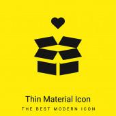 Krabice minimální jasně žlutý materiál ikona