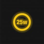 25 Watts Lamp Indicator yellow glowing neon icon
