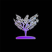 Große Pflanze wie ein kleiner Baum blaues Gradientenvektorsymbol