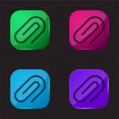 Připojit ikonu tlačítka čtyři barvy skla
