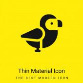 Pták minimální jasně žlutý materiál ikona