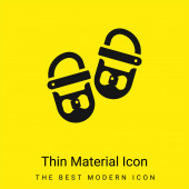 Baby Shoes minimal bright yellow material icon