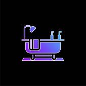Fürdőkád kék gradiens vektor ikon