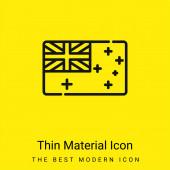 Australia minimal bright yellow material icon