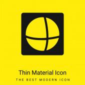 Ads Of The World Logo minimální jasně žlutý materiál ikona