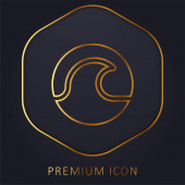 Strand goldene Linie Premium-Logo oder Symbol