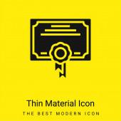 Award minimal bright yellow material icon