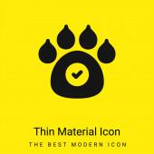 Zvířata povolena minimální jasně žlutá ikona materiálu