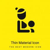 Stillen minimalen leuchtend gelben Material Symbol