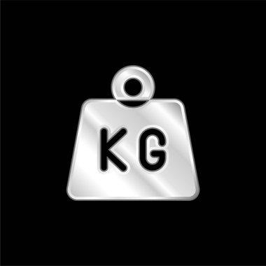 Bar silver plated metallic icon stock vector