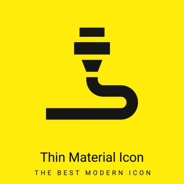 3d Printing minimal bright yellow material icon stock vector