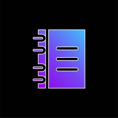 Agenda blue gradient vector icon stock vector