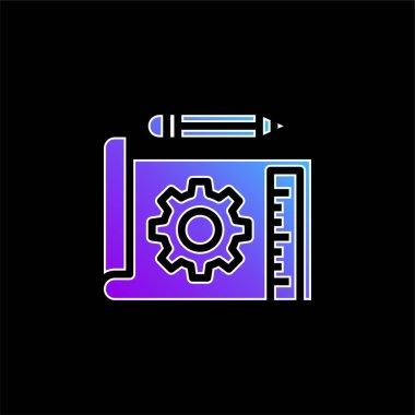 Blueprint blue gradient vector icon stock vector