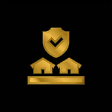 Auction gold plated metalic icon or logo vector stock vector
