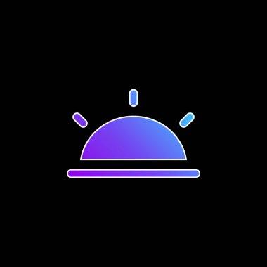 Black Half Sun blue gradient vector icon stock vector