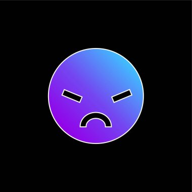 Angry blue gradient vector icon stock vector