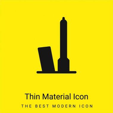 Bologna minimal bright yellow material icon stock vector