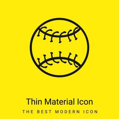 Baseball Ball Outline minimal bright yellow material icon stock vector