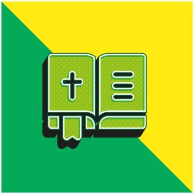 Bible Green and yellow modern 3d vector icon logo stock vector
