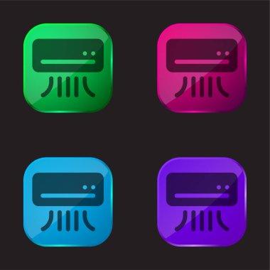 Klima dört renkli cam simgesi
