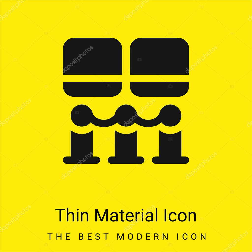 Art Museum minimal bright yellow material icon stock vector