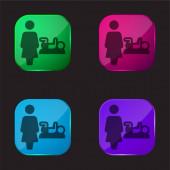 Baby Change négy színű üveg gomb ikon