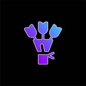 Bouquet blue gradient vector icon