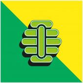 Včelí zelená a žlutá moderní 3D vektorové logo ikony