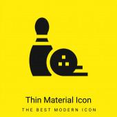 Bowling Pin minimal bright yellow material icon